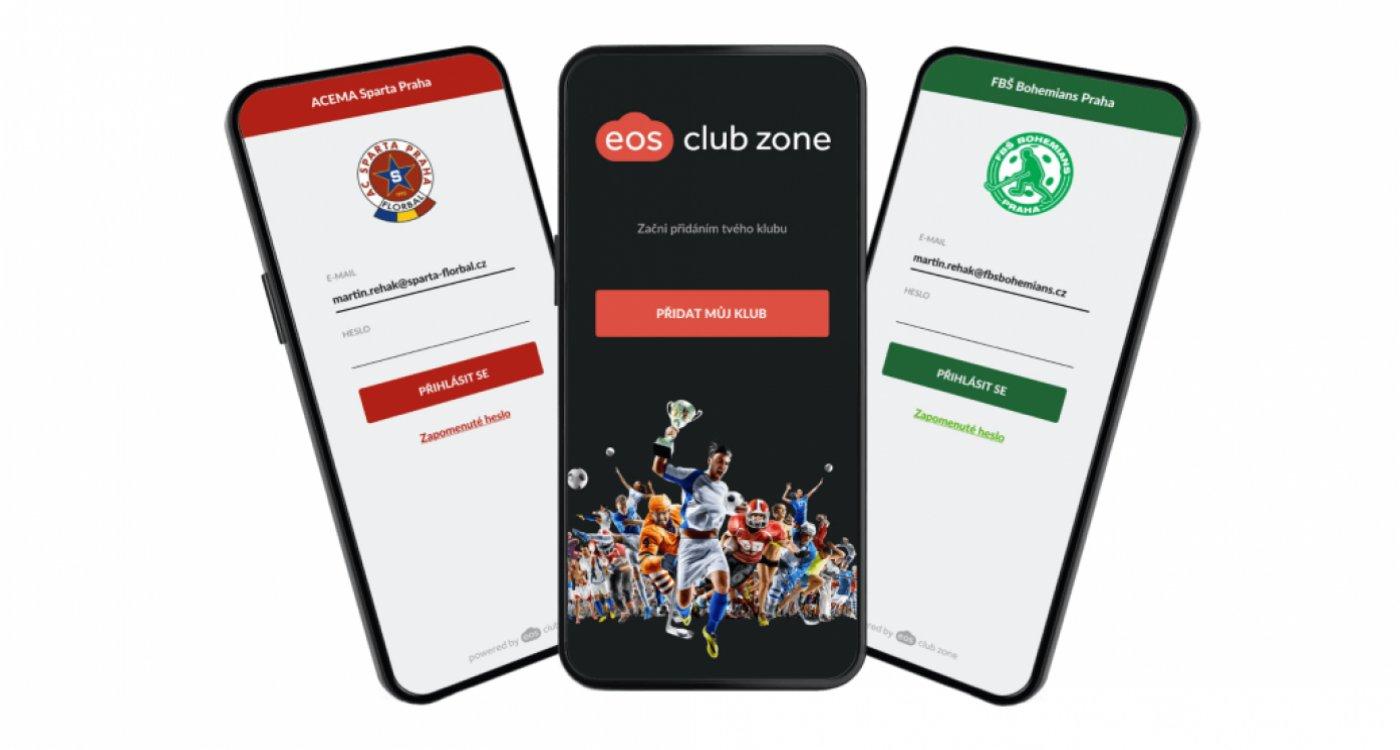 Členská sekce v mobilu