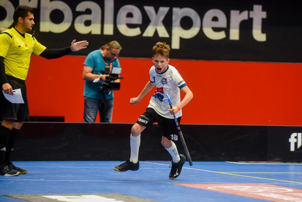 Obrázek 2: Jan Borik po proměněném nájezdu ve finále Prague Games.