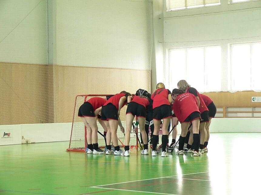 Obrázek 1: Ženský tým na zápase v Pohořelicích